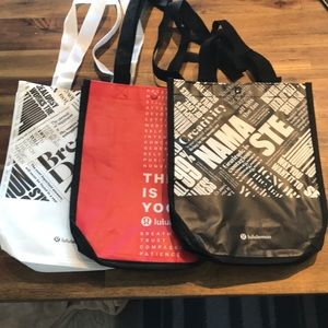 Lululemon Set of 3 Reusable Bags